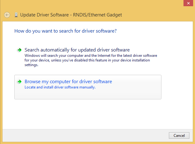 rndis driver windows 7 64 bit